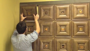How to Install Faux Leather Tiles Video