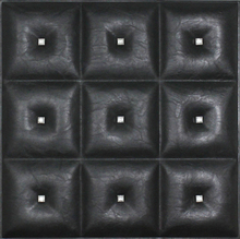 Diamonds in The Sky - Faux Leather Ceiling Tile - black - #DCT LRT19