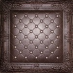 Juliet - Faux Leather Ceiling Tile-DCT LRT03_chocolate