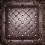 Juliet - Faux Leather Ceiling Tile-DCT LRT03_chocolate