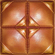 Saddle Stitched - Faux Leather Ceiling Tile - #DCT LRT39