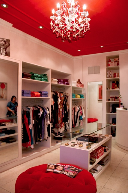 Red Closet Ceiling Decoration