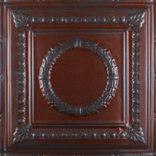 Red Ceiling Decoration, Romanesque 2407 - Aluminum Ceiling Tile - Red Metal