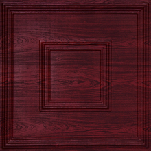 Red Ceiling Decoration, Town Square 2018 - Faux Tin Ceiling Tile - Rosewood