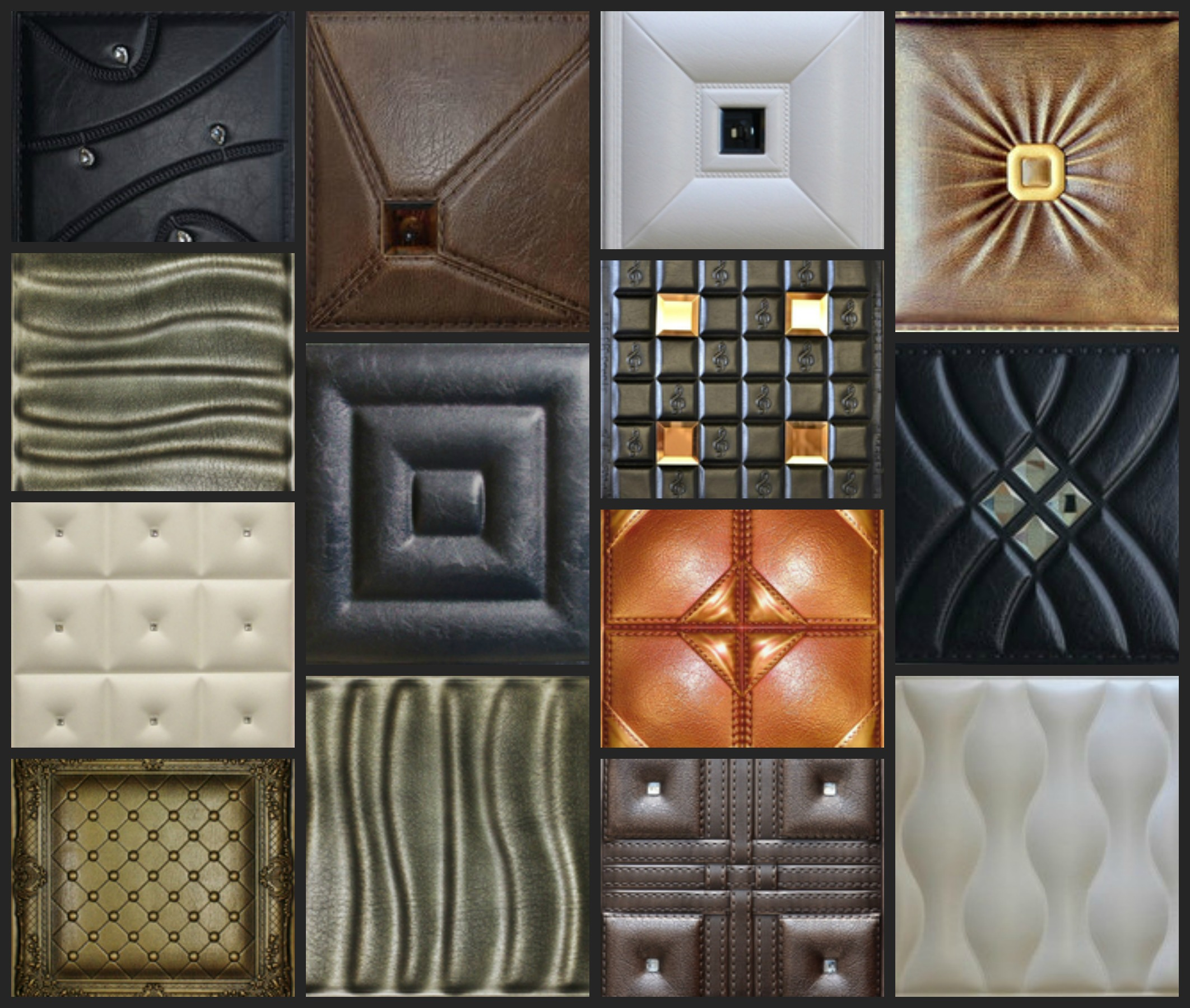 faux leather ceiling & wall decorative tile styles, Faux Leather Decorative Tiles