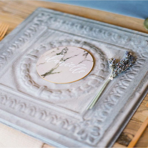 Decorative Ceiling Tile Wedding Chargers