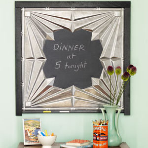 DIY Tin Ceiling Tile Magnetic Chalkboards