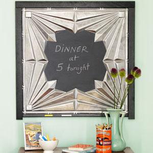 DIY Tin Ceiling Tile Magnetic Chalkboards