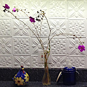 Flower Power Aluminum Backsplash Tile