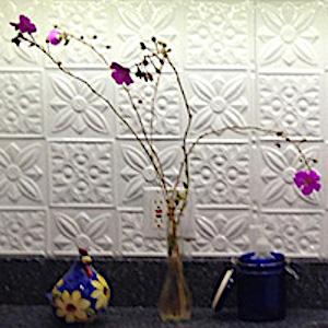 Flower Power Aluminum Backsplash Tile